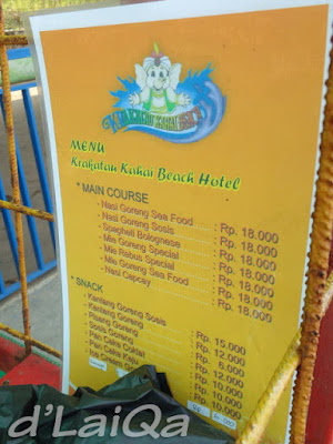 daftar harga makanan