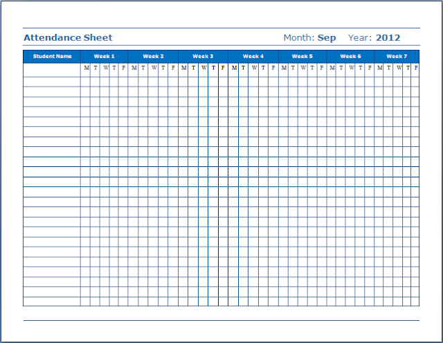 15 Employee attendance sheet Calendar tracker in Excel and PDF – Attendance Sheet for Employees
