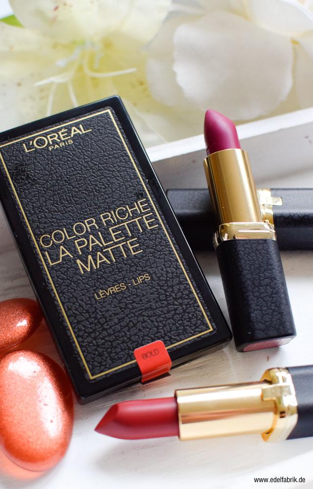 L'Oréal Color Riche, matte Lippenstifte, Verpackung, La Palette