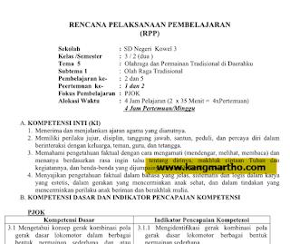 RPP PJOK SD/MI K13 Semester 2
