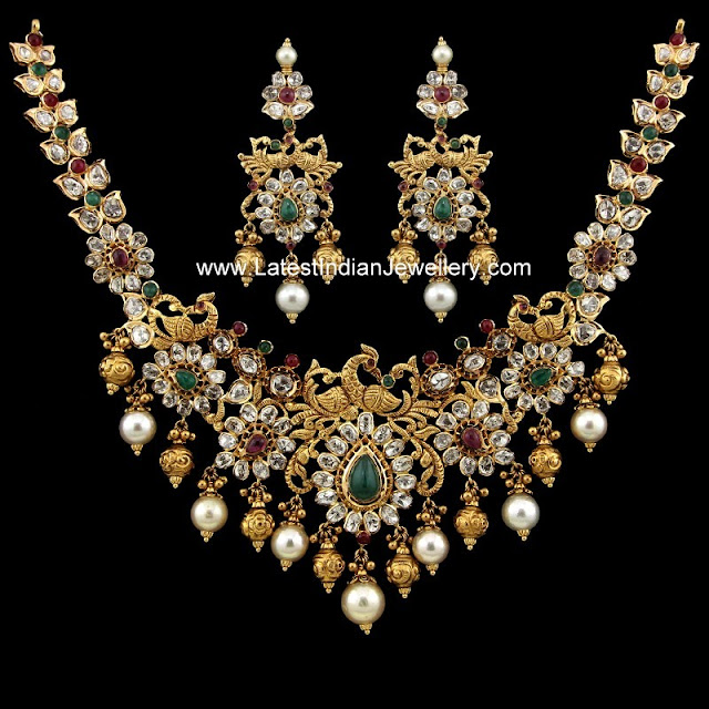 100gms Uncut Diamond Necklace