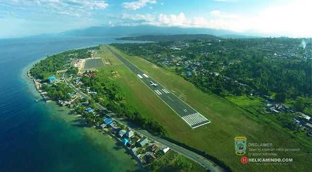 Bandara Rendani Manokwari Aerial Photography by drone