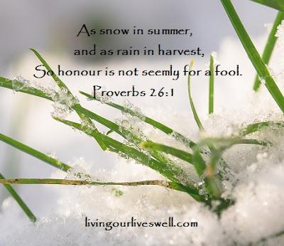 Proverbs 26:1