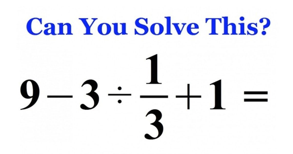 Most People Can Not Solve This Basic Math Problem. Can You?