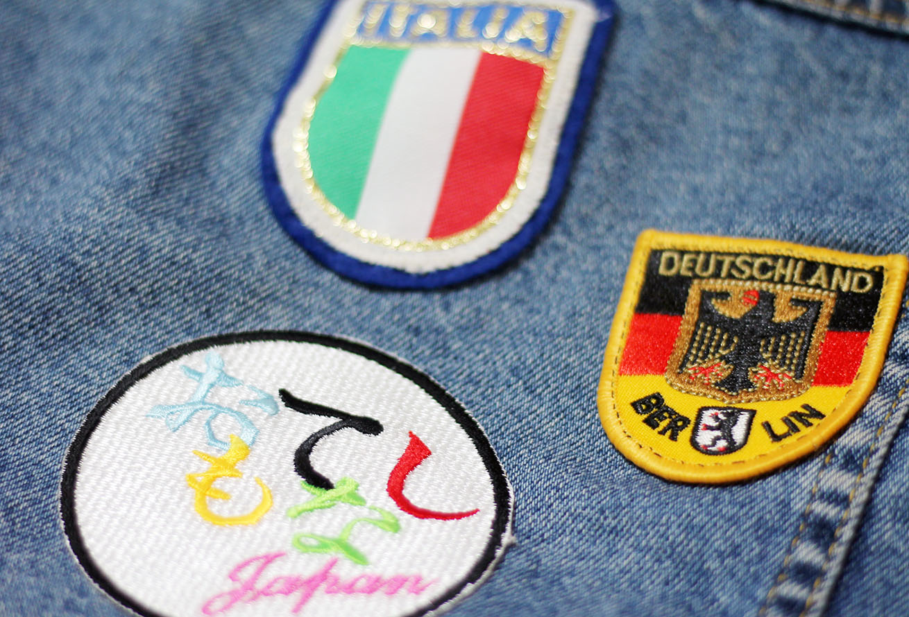 denim jacket patches on Liverpool style blogger jacket