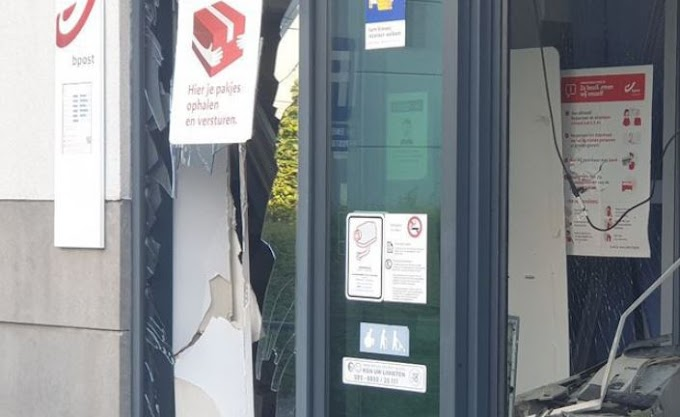 Opnieuw plofkraak in Stabroek: veel schade, daders op de vlucht