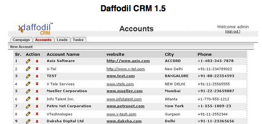 Daffodil CRM 1.5 Latest 2016
