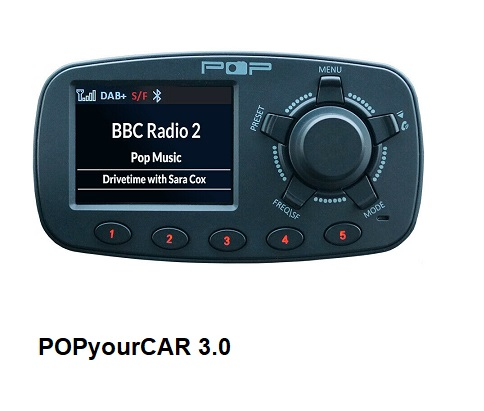 POPyourCAR 3.0 DAB/DAB+ adapter for car audio