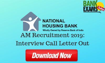 NHB Assistant Managers Recruitment 2019: Interview Call Letter Out