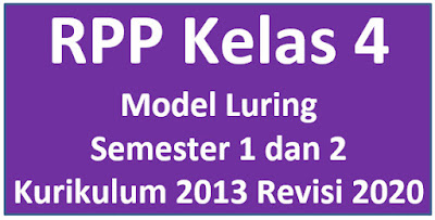 RPP Kelas 4 Model Luring Seemster 1 dan 2 K13 Revisi 2020