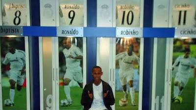 Fotos de Neymar en el vestuario del Real Madrid