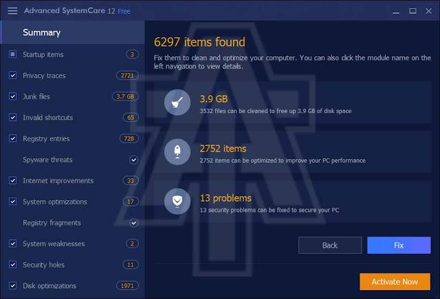 تحميل عملاق تسريع الكمبيوتر Advanced SystemCare Free