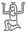 Homem ajoelhado com braços erguidos