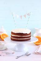 Tarta de zanahoria y naranja con crema mascapone