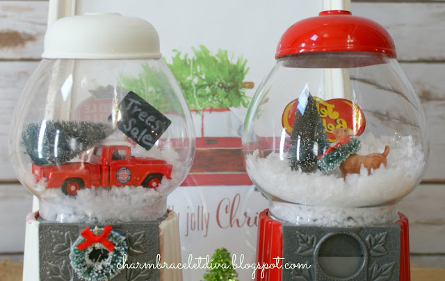 Bubble Gum Machine Waterless Snow Globe Tutorial