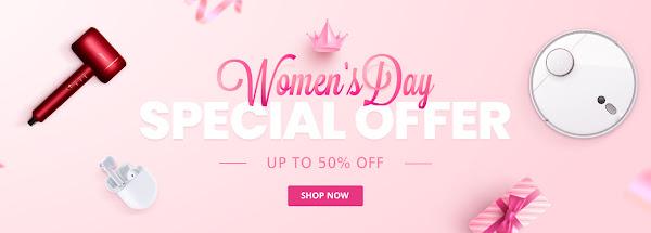 Promoção dia da Mulher na Geekbuying
