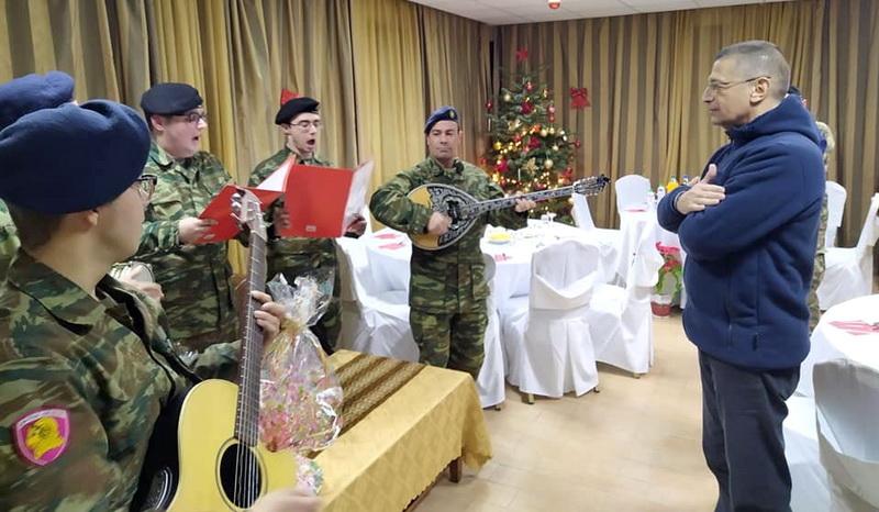 Στον Έβρο γιόρτασε την αλλαγή του χρόνου ο Υφυπουργός Εθνικής Άμυνας Αλκιβιάδης Στεφανής