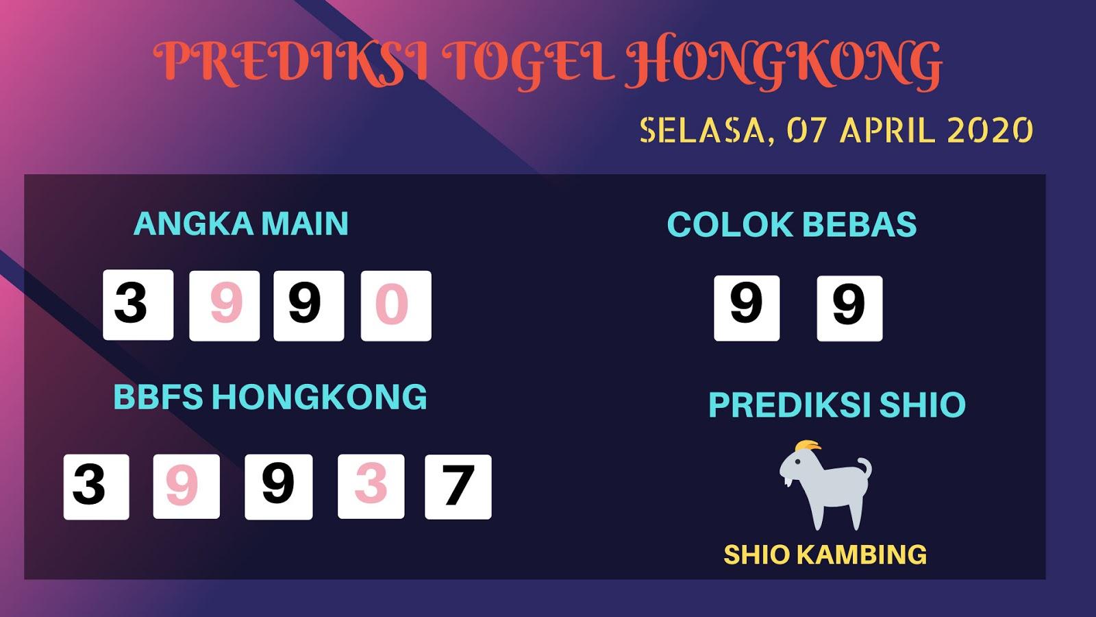 Prediksi HK Malam Ini Selasa 07 April 2020 - Prediksi Angka HK