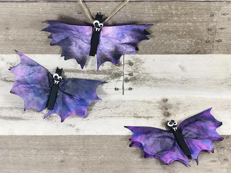 coffee filter bats