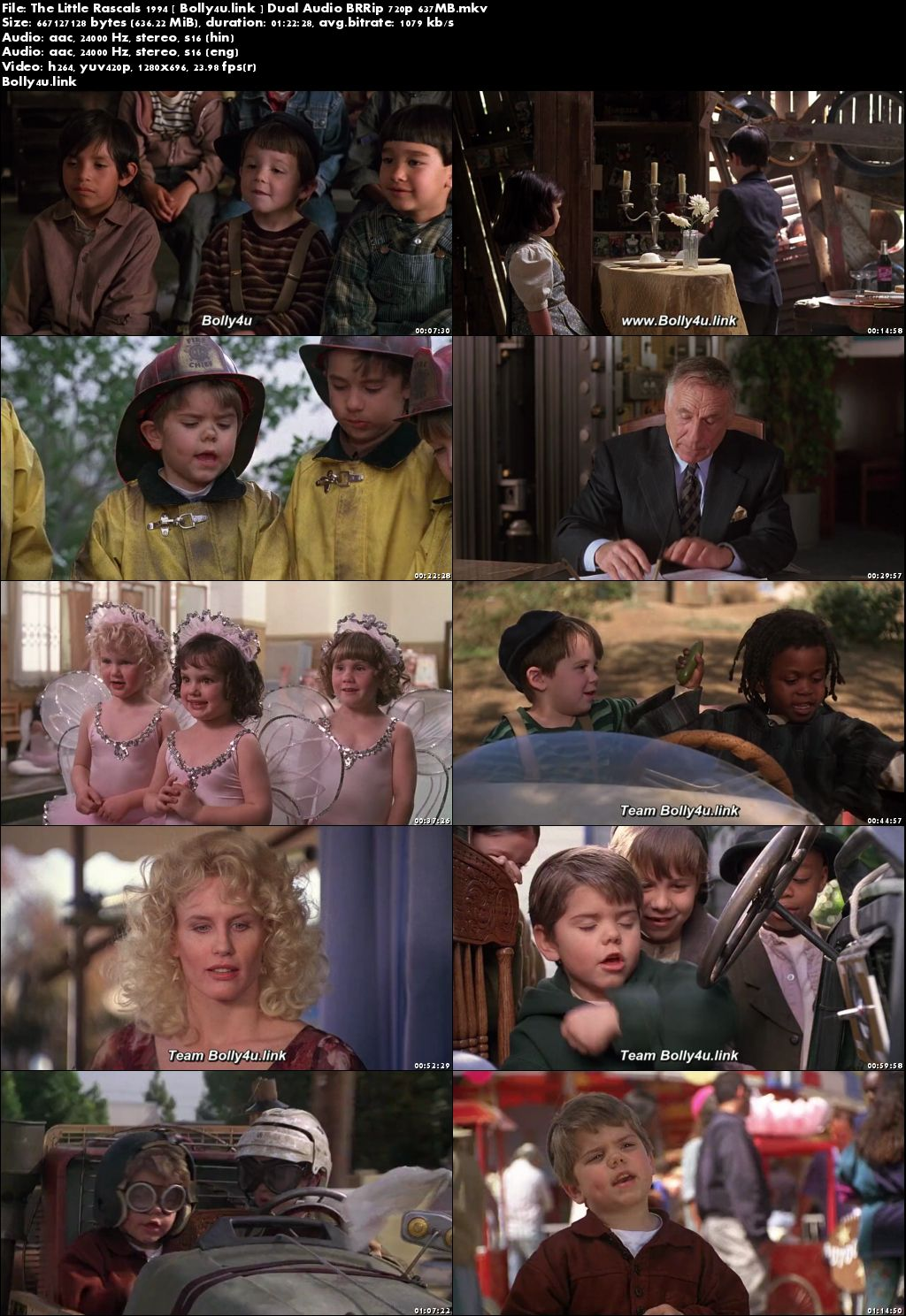 The Little Rascals 1994 BluRay 270MB Hindi Dual Audio 480p Download