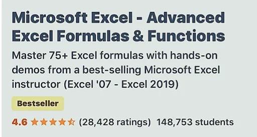 كورس Excel كامل باللغة الانجليزية