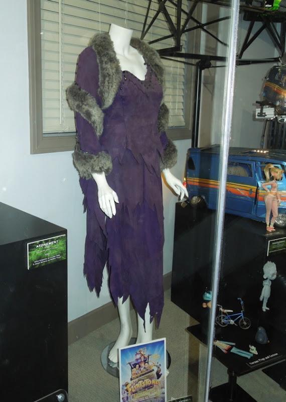 The Flintstones Elizabeth Taylor movie costume on display...
