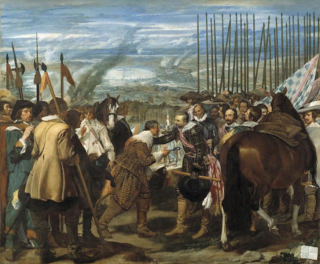 Los autores pintaban las armas de guerra como los arcabuces
