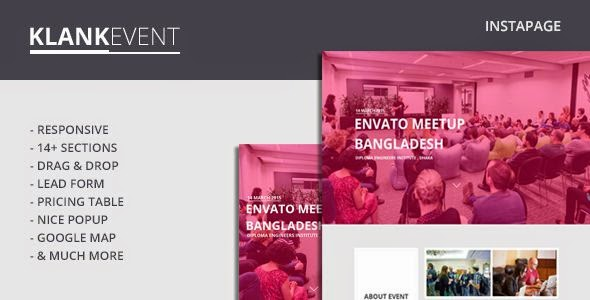 Klank Event - Instapage Event Landing Page