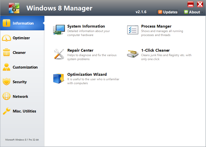 Repair Windows with Windows 8 Manager
