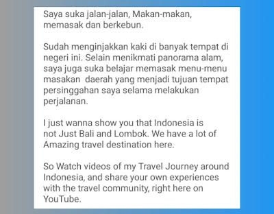 Contoh Deskripsi Channel Youtube Travel yang Menarik