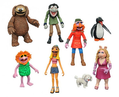 The Muppets Select Action Figures Series 3 by Diamond Select Toys – Miss Piggy, Foo Foo, a Penguin, Floyd Pepper, Janice, Rowlf, Mahna Mahna & Crazy Harry