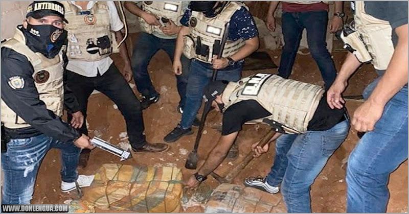 Encuentran 419 kilos de cocaína enterrados en una casa de Nueva Esparta