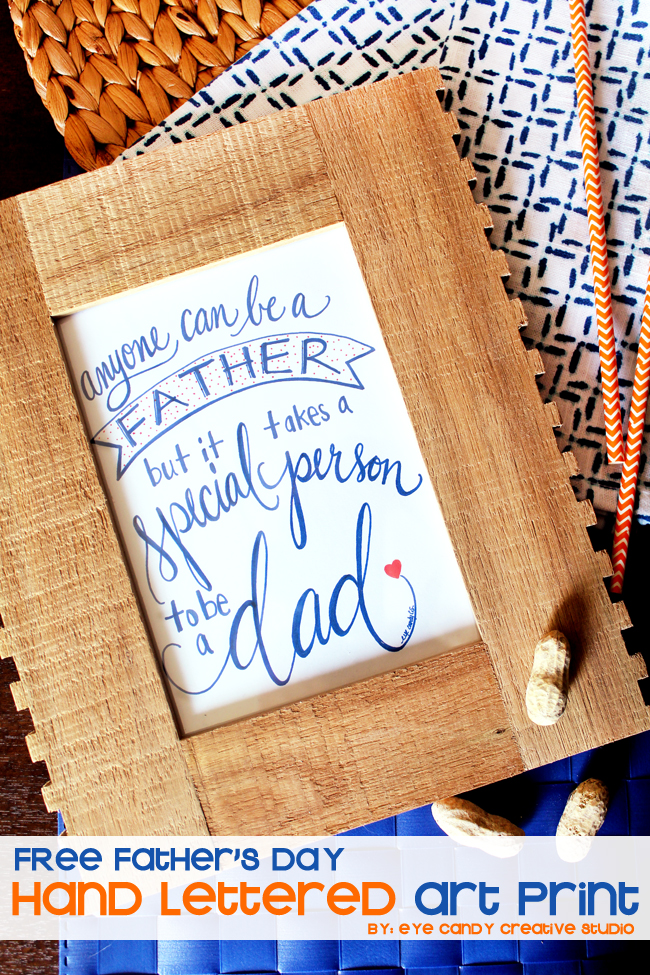 hand lettered art print, father's day, special dad, free father's day art