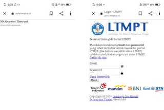 Portal LTMPT Tidak Bisa Diakses Dibuka