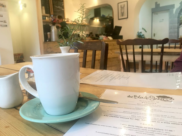 A calm cup of tea at the Black sheep cafe in bristol