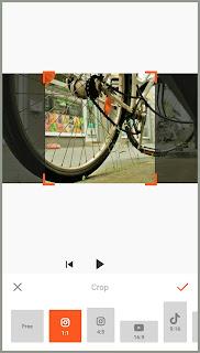 Preset ratios to crop video. Tutorial edit Video YouCut