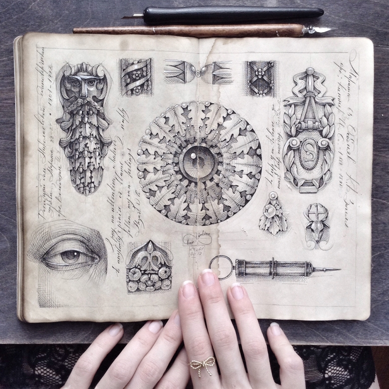 10-Elena-Limkina-Moleskine-Illustration-Adorned-with-Lovely-Calligraphy-www-designstack-co