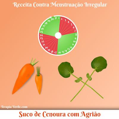 Receita Contra Menstruação Irregular: Suco de Cenoura com Agrião
