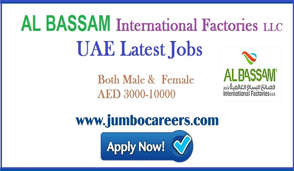 Factory jobs in UAE, Current jobs opening in UAE with salary up to 10000,