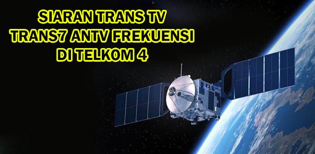 Frekuensi Trans TV Trans7 ANTV di Telkom 4