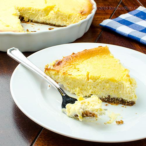 Italian Ricotta and Cream Cheese Pie
