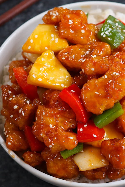 Resep Ayam Goreng  Saus Asam Manis Ala Restoran Cina