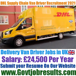 DHL Supply Chain Delivery Van Driver Recruitment 2021-22