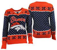 NFL womens v-neck sweater
