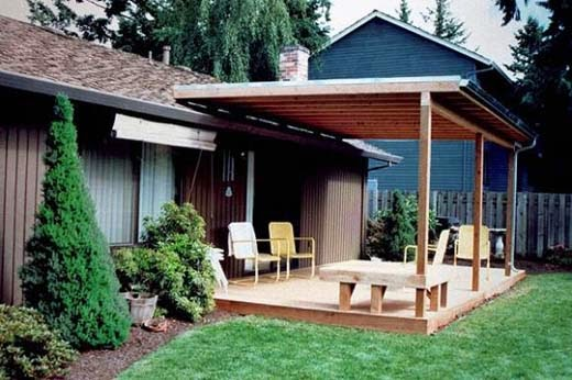 Outdoor Wood Patio Cover Design Types