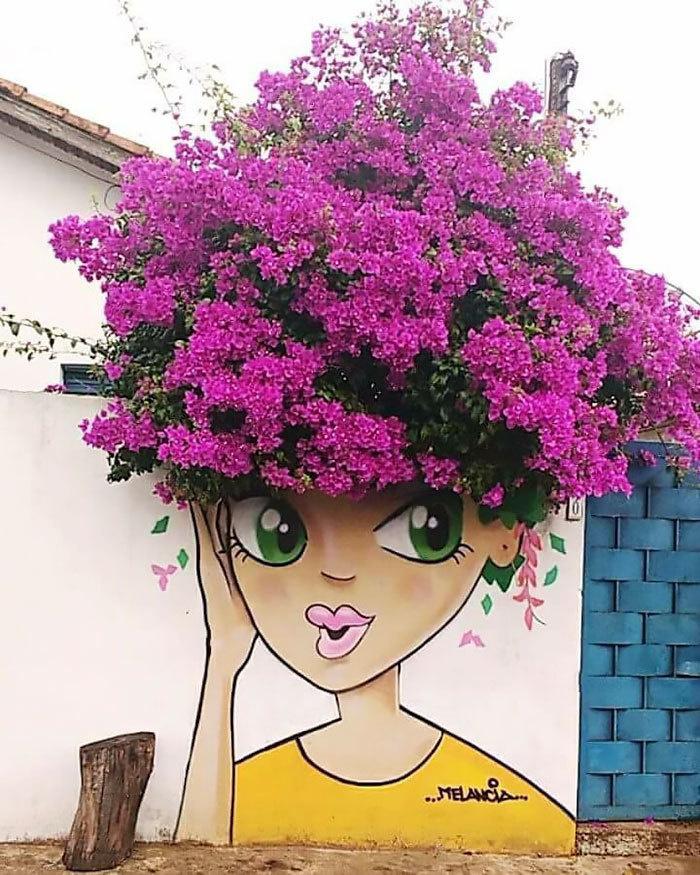 Vibrant Flowers Hairing