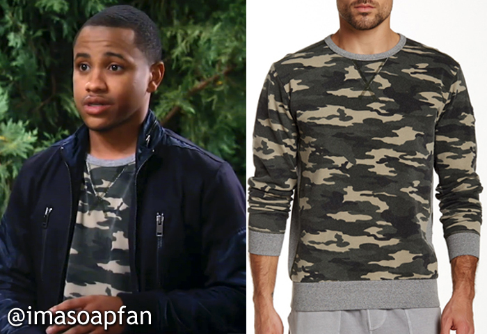 General Hospital, GH, Camouflage Sweatshirt, Tequan Richmond, TJ Ashford,