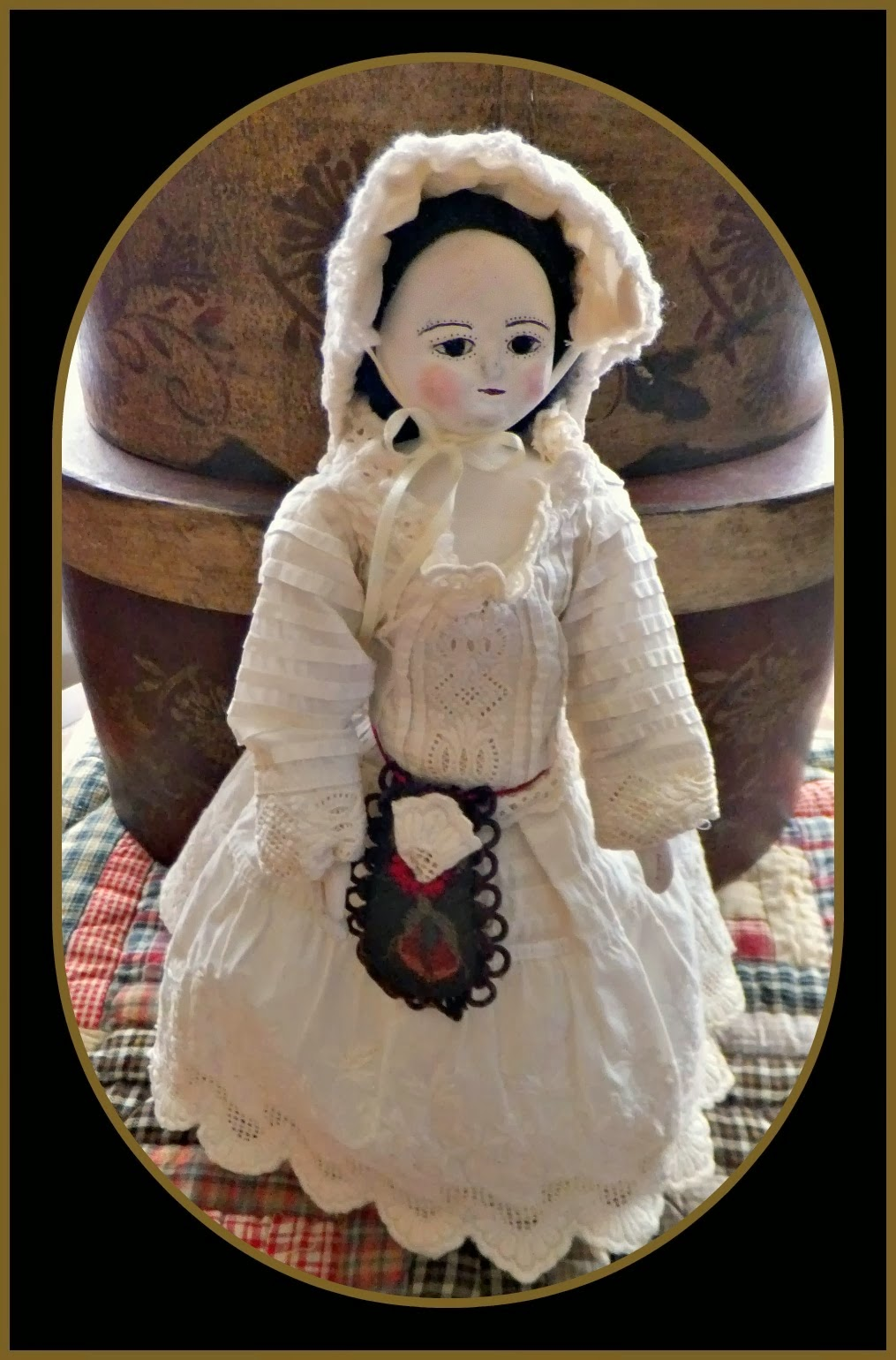 Queen Anne Peg Wooden Doll