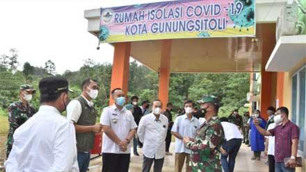Pangdam I BB Tinjau Lokasi Isoter dan Posko PPKM di Pulau Nias