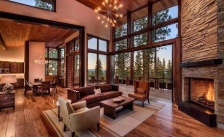 rumah kayu mewah
